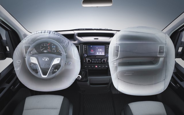 Front airbags for driver and passenger