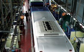 The models are mass-produced on the production line.