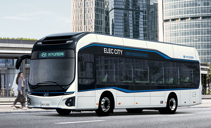 Hydrogen Electric Bus Shuttle Bus Service