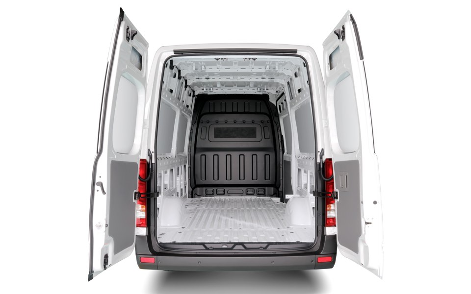 270-degree opening rear doors