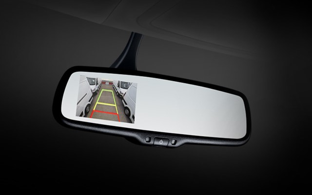 Electronic chromic mirror (ECM) with rear camera display (RCD) system