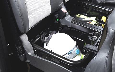 Storage under front passenger seat